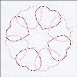 Jack Dempsey Needle Art Circle of Hearts Quilt Blocks, white