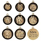 Didog Personalised Engraved Pet ID Tags with 8 Breeds 3D Effect - Customized Identity Dog Tag Cat ID Tags for Pet Collar- High-Relief Copper Dog Name Tags for French Bulldog