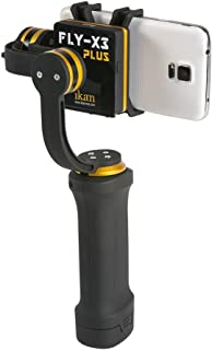 Ikan FLY-X3-PLUS-KIT 3-Axis Smartphone Gimbal Stabilizer, Extra Battery, Black (Renewed)