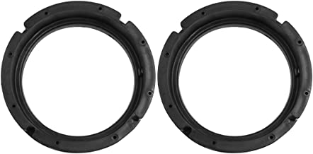 uxcell 6.5 inches Inch Car Black Plastic Speaker Spacers Round 2 Pcs