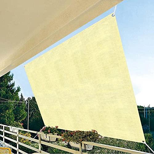 HEXLONG Toldo rectangular de color beige con cifrado de toldo engrosamiento para protección solar para exteriores, jardín, vehículos, balcón, flores, etc