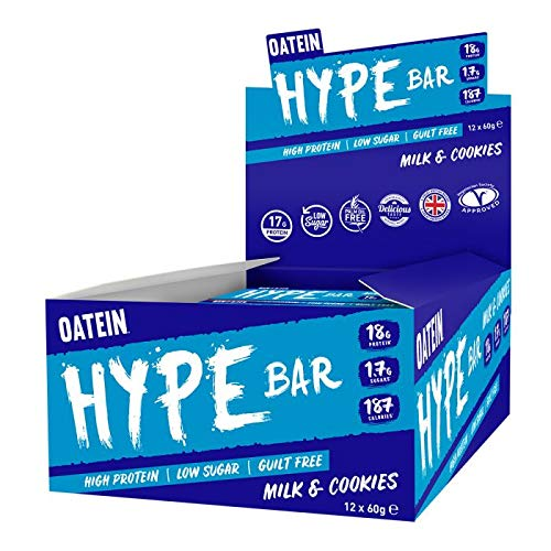 Oatein Hype Bar Taster Box Milk and Cookies, 20 x 60 g