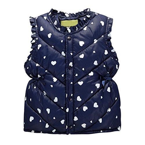 Wongfon Baby Girls Warm Weste, Wonfon Herbst Winter Weiche Baumwolle Gilet Bodywarmer, Kinder Polka Dots Jacke Outwear