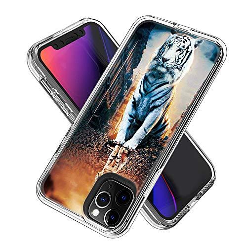 Coque iPhone 11 Pro (5.8inch), Silicone Bumper, Transparent PC + TPU Hybride Boîtier de Protection avec Carte de Mode (La réflexion)