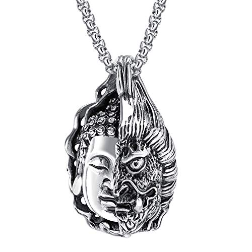 Self-Discipline Inspirational Daily Reminder One Thought Becomes a Buddha Necklace (White)