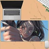 Zenghh プロフェッショナルゲーミングマウスパッドのアニメはWlopゴーストブレードゴーストブレード拡張ビッグデスクマット、ノンスリップラバーベースで縫製がコンピュータのエッジ、ラップトップ(巨大XL 31.4x11.8in)、デザイン (Color : 2)