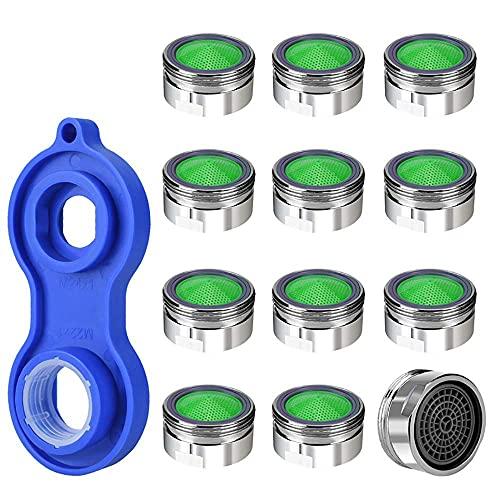 12 Pc aireador cobre economizador de agua, Hahn 1Pc filtro de agua de ventilación difusor aireador utensilio