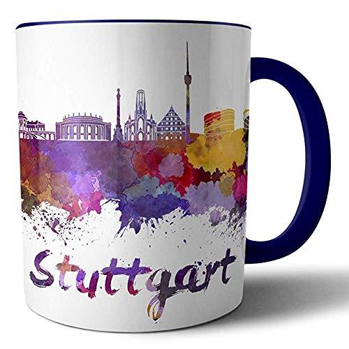 Tassenliebe® Lieblingsstadt Stuttgart - Kaffeebecher, Tasse mit Motiv - für Fans und Freunde der Stadt, Aber auch Geschäftspartner und Kunden