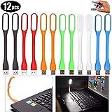 AMZANDY NEW 12 Stücke USB LED Licht, Mini USB LED Lampe,Flexible Licht für für Notebooks,...