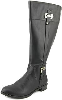 Karen Scott Deliee Wide Calf Round Toe Canvas Knee High Boot