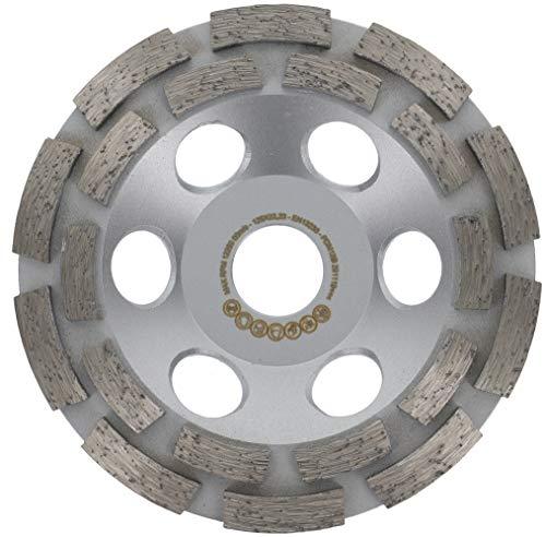 PRODIAMANT Premium diamant-slijpkop beton/universeel 125 mm x 22,2 mm diamantslijpkop 125 mm met gedraaide drager en grote afzuiggaten geschikt voor haakse slijpers