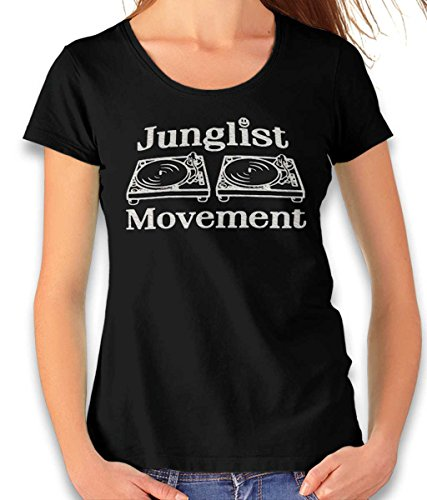 Junglist Movement Damen T-Shirt schwarz 2XL