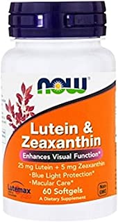 Now Foods Lutein and Zeaxanthin, Softgels, 60ct