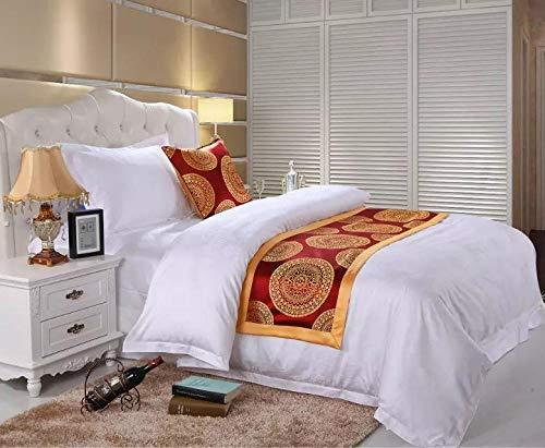 Chemin de Lit Drapeau de Lit Eurostar Hotels, Home couverture Bed serviette, drapeau vert drapeau de table drapeau de table drapeau de lit drapeau de lit drapeau de lit, Liseret doré fleur de soleil