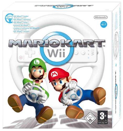 Nintendo Wii - Mario Kart + Wheel (Volante) [Bundle]