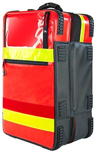 PREMIUM Notfallrucksack X1 YELLOW PLANE 52 x 30 x 25 cm 39 L, Farbe:Rot