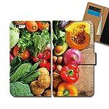Disney Mobile SH-05F ケース 手帳型 食べ物 手帳ケース スマホケース カバー フード 野菜 サラダ ダイエット E0314040060804