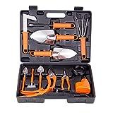 BNCHI Gardening Tools Set,14 Pieces Stainless Steel Garden Hand Tool, Gardening Gifts for Women,Men,Gardener