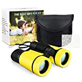 Dreamingbox Geburtstagsgeschenk für Mädchen 3-10 Jahre, Kompakt Fernglas für Kinder 3-10 Jährige Jungen Spielzeug Mädchen Spielzeug ab 3-10 Jahre Geschenke für Jungen 3-12 Jahre Gelb
