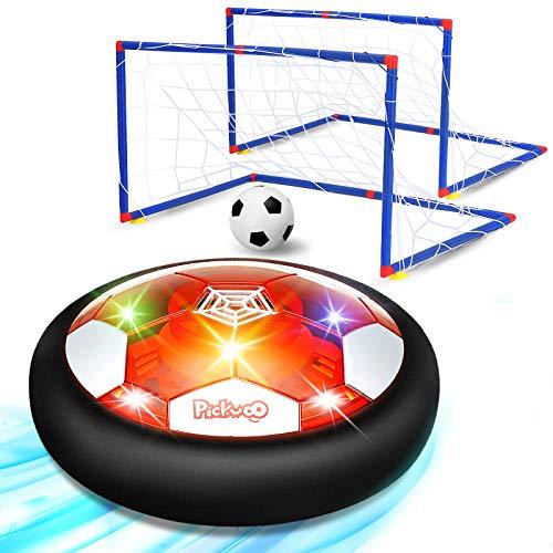 Pallone Calcio - Porta Da Calcio Per Bambini - Air Hover Calcio Fluttuante -Allenamento Calcio Da Giardino Con Paracolpi In Bchiuma E Potenti Luci A Led - Giocattoli Sportivi Per Bambini (stile 1)