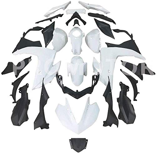 ZXMT Unpainted Fairing Kit Motorcycle Fairings for Yamaha YZF R3 2014 15 16 17 2018, YZF R25 2015 2016 2017 (28 Pcs)