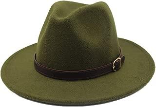 Sun Hat for men and women Men Women Fashion Fedora Hat Woolen Belt Bandwidth Side Women's Felt Hat Retro Hat Elegant Ladies Jazz Hat