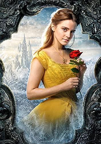 YYAYA.DS Impresión de Lienzo Belle la Bella y la Bestia Cartel 2017 película Cartel Pintura Decorativa 60x90cm