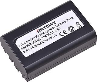 Batmax 1Pc 1400mAh EN-EL1 Battery for Nikon ENEL1,Minota NP-800 Nikon Cooipix 4300 4500 4800 5400 5700 775 8700 880 885 995 Coolpix E880 and Konica Minota DG-5W Dimage A200 Cameras