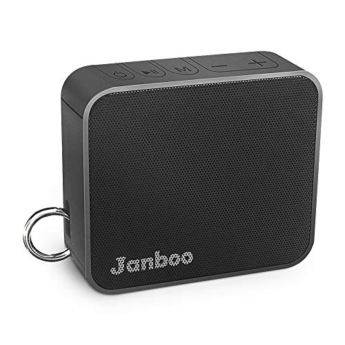 Janboo Portable Wireless Bluetooth V4.2 Speaker,with 6W Driver Enhanced Bass 33ft Bluetooth Range 10-Hours Playtime Built-in Mic,IPX6 Waterproof for Shower Home Outdoor Beach (Black)