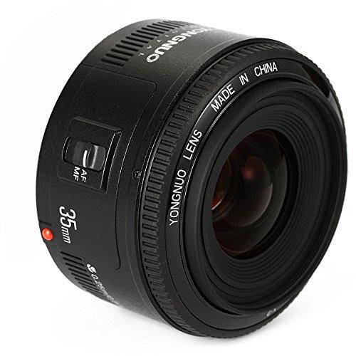 YONGNUO YN35 35mm F2 Obiettivo 1: 2 AF/MF grandangolare fisso/Primo automatica del fuoco dell'obiettivo per Canon EF EOS Camera + NAMVO Flash Diffusore