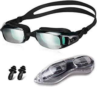 Snowledge Swimming Goggles for Men with No Leaking, Swim Goggles for Men Women with UV Protection Wide View Adjustable - K...