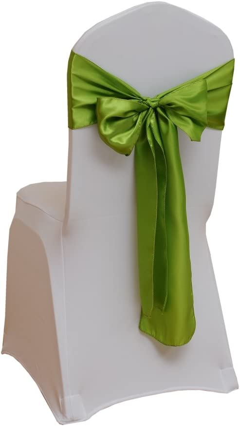 Fvstar Satin Chair Sashes Bows Chair Ribbon Sash Chairs Back Tie Sashes for Wedding Bridal and Events Supplies Mother's Day Party Decor,Pack of 25