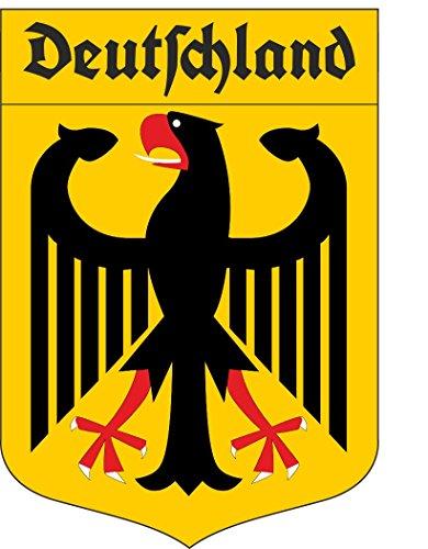 Etaia 5,5x8 cm - Auto Aufkleber Deutschland Adler Wappen mit altdeutscher Schrift Fraktur BRD...