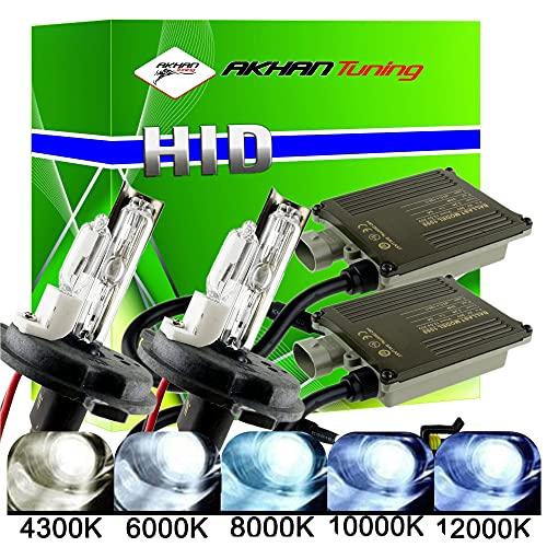 akhan Digital 9–32 V 35 W Canbus Bixenon Kit Kit H4 H/L 6000 Kelvin Avec Brûleur xénon HID ballast, lampe et matériel de montage sans erreur et sans scintillement