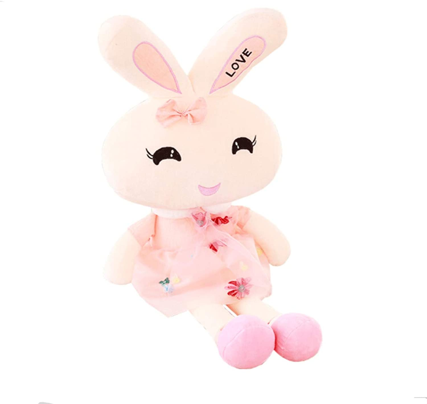 Plush Toy, Rabbit Doll, Rogue Rabbit Doll, Birthday Present, Pink bluee green, Multisize, Best Gift (color   Pink, Size   70cm)