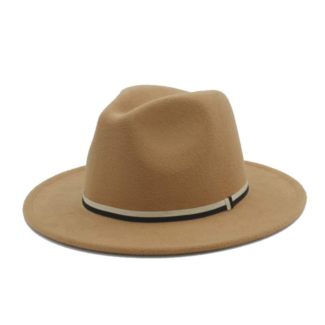 Moktasp Fashion Women Wool Fedora Hat with Flower Cloche Ribbon for Elegant Winter Autumn Wide Brim Jazz Church Caps