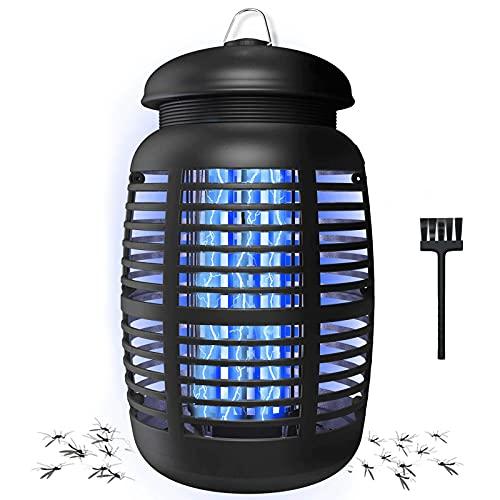 Jior Elektrischer Insektenvernichter, Insektenfalle Mückenlampe 15W 80㎡ UV licht Moskito Lampe, Effektiv Reduzieren mücken,Fliegende Insekten,Wasserdicht Mückenlicht für Indoor & Outdoor-Garden, Home