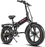 ENGWE 750W Bici Elettriche da 20 Pollici Mountain Beach Snow Bike per Adulti Scooter Elettrico in Alluminio A 7 velocità E-Bike con Ricarica Batteria al Litio 48V12.8A (Nero)