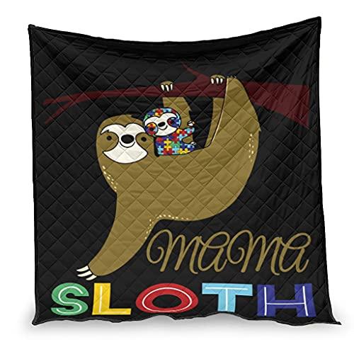 OwlOwlfan Mama Sloth Autismo Anti Allergy Lightweigt - Manta de viaje para primavera, verano, otoño, temporada blanca, 230 x 280 cm
