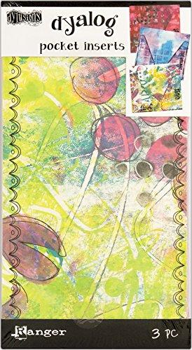 Ranger Dylusions Inserts de poche en papier, multicolore, 21,1 x 11,5 x 0,7 cm