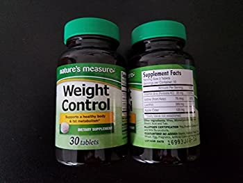 2 Pack of Nature s Measure Weight Control  30 tablets x 2 = 60 tablets