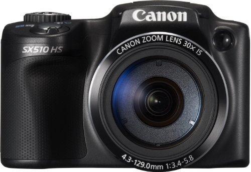 Canon PowerShot SX510 HS - Cámara compacta de 12.1 MP (Pantalla de 3', Zoom óptico 30x, estabilizador), Negro
