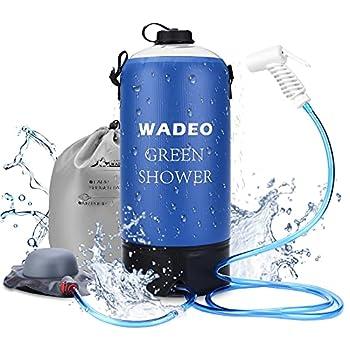 WADEO Sac de douche portable de 11 L - Pour le camping, la douche, la randonnée, l'escalade, le bain