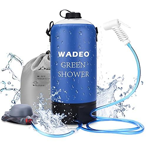 WADEO Outdoor Camping Dusche 11L Tragbare Druckduschtasch, Faltbar Tragbare...
