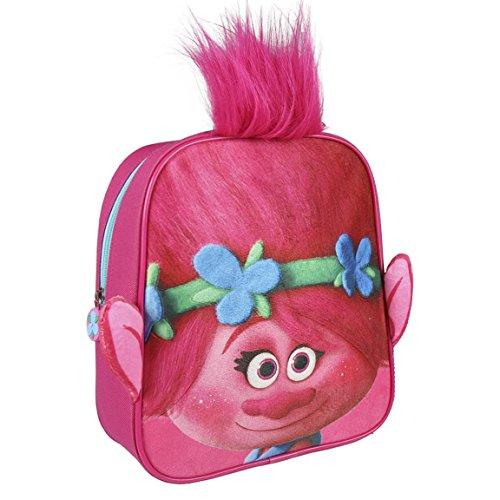 Cerdá Trolls Poppy Zainetto per bambini, 28 cm, Blu (fucsia)