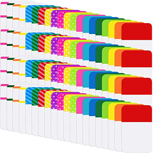 1600 Pieces Sticky Index Tabs File Folder Tabs, Writable and Repositionable File Tabs Flags for Pages or Book Markers, Reading Notes, Classify Files, 80 Sets 20 Colors Tabs (1 Inch, 1600 Pieces)