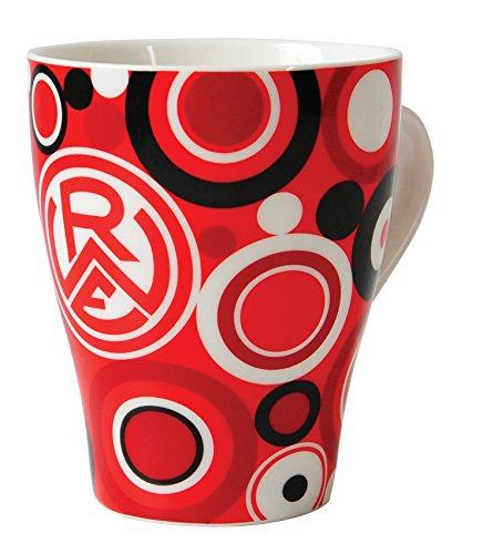 benu Tasse Porzellantasse Retro, Rot-Weiß-Schwarz, 26021