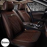 Transpirable Ropa de asiento de coche cubierta, Apto para cuatro estaciones, compatible con bolsas de aire, adecuado para la mayoría coches, camiones, camionetas,Marrón