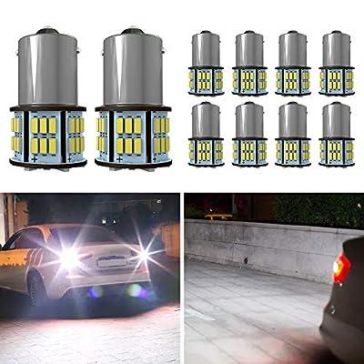 Amazon - Save 70.0%: Mesllin 1156 1141 BA15S 7506 6500K White LED Light Bulb 54SMD 5630 B…