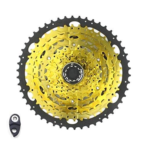 Roue 10 Vitesses Vélo Cassette d'or vélo Cassette Sprocket vélo VTT Volant Moteur for VTT/SRAM 11-46T 11-50T dérailleur (Color : 10S 11 50T)
